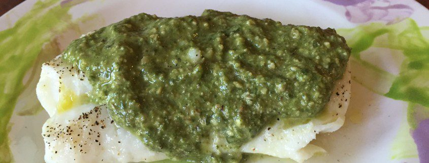 Fish Fillets With Pesto Color My Food