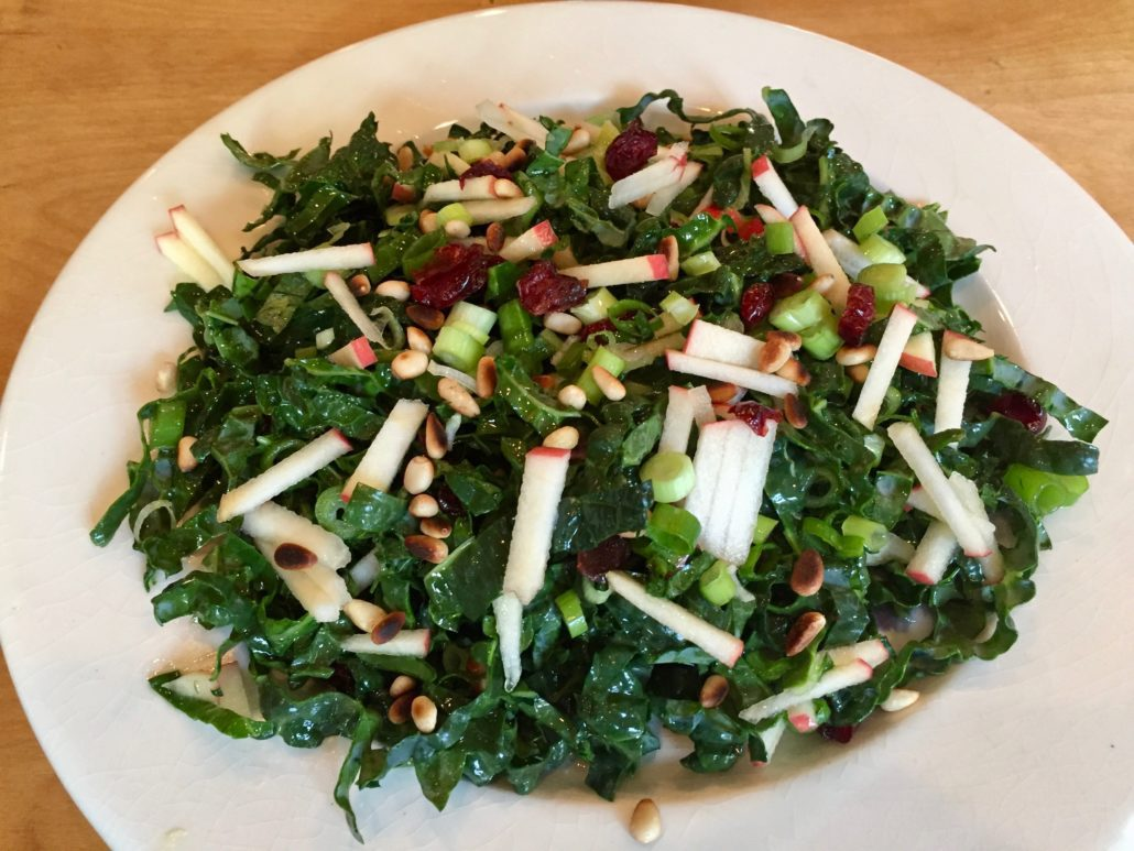 recipe: kale salad with cranberries and pumpkin seeds [23]