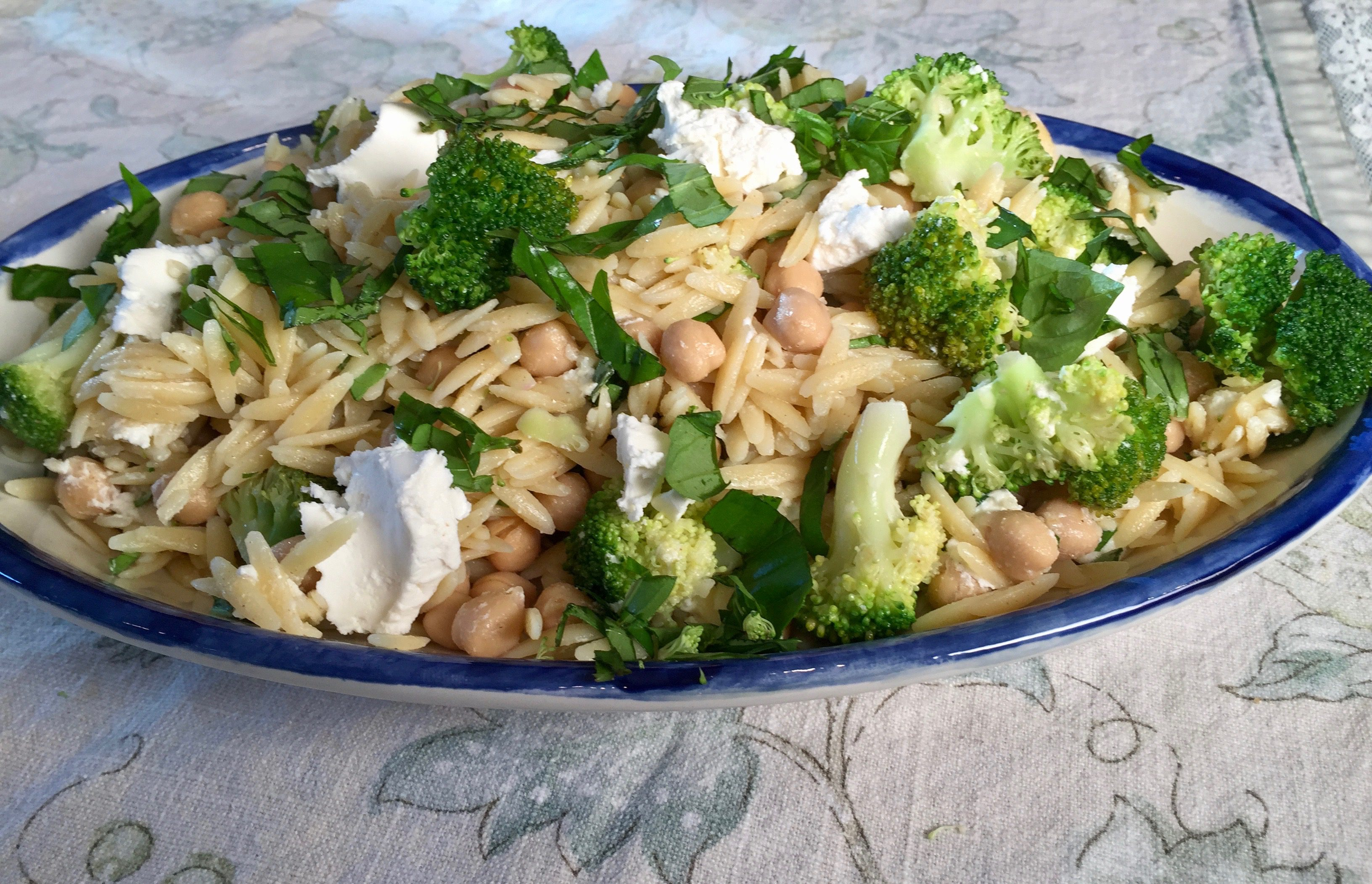 Color My Food | Orzo with Garbanzo Beans, Goat Cheese and ...